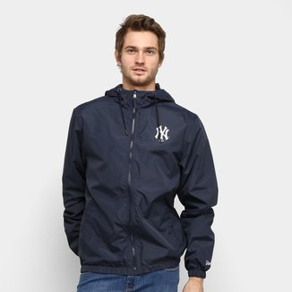Jaqueta Corta-Vento MLB New York Yankees New Era Basic Sazonal Quad Masculina
