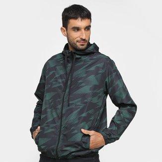 Jaqueta Corta Vento Wall Estampada Com Capuz Masculina