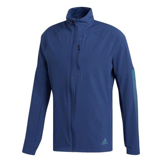 Jaqueta de corrida Adidas Rise Up N Tech Indigo Masculina - Azul