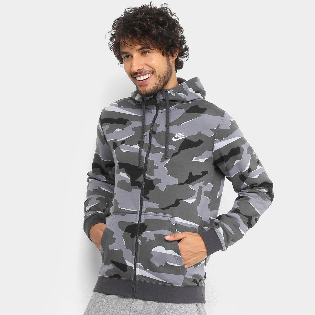 Jaqueta Estampada Nike Nsw Club Camo Hoodie Masculina - Compre Agora ... 5356a09ef2ea5