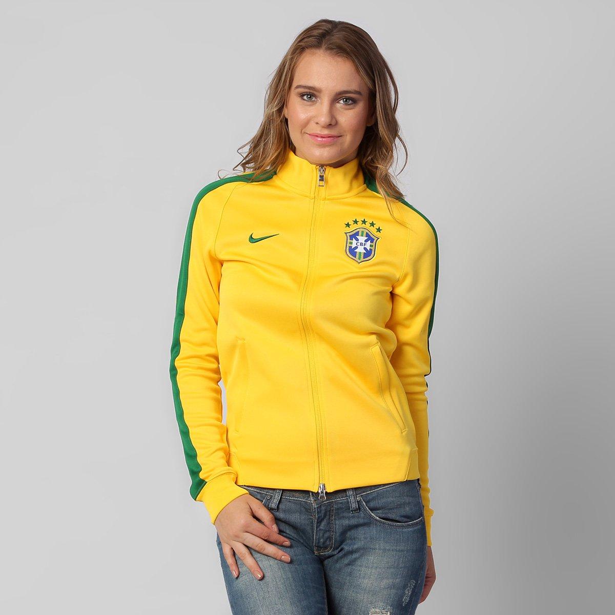 b9fed841ec Jaqueta Feminina Nike Seleção Brasil Intl Authentic Track - Compre ...