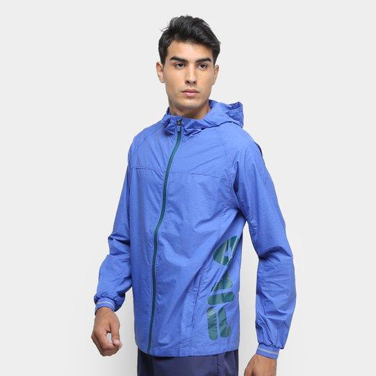 Jaqueta Fila Windbreak Reflex Masculina - Azul Royal+Verde