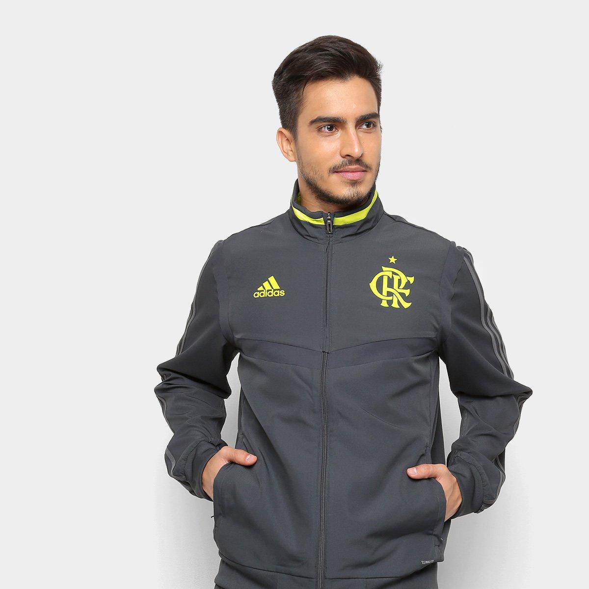 Jaqueta Flamengo Adidas Masculina - Chumbo - Compre Agora  43952f527c1ae