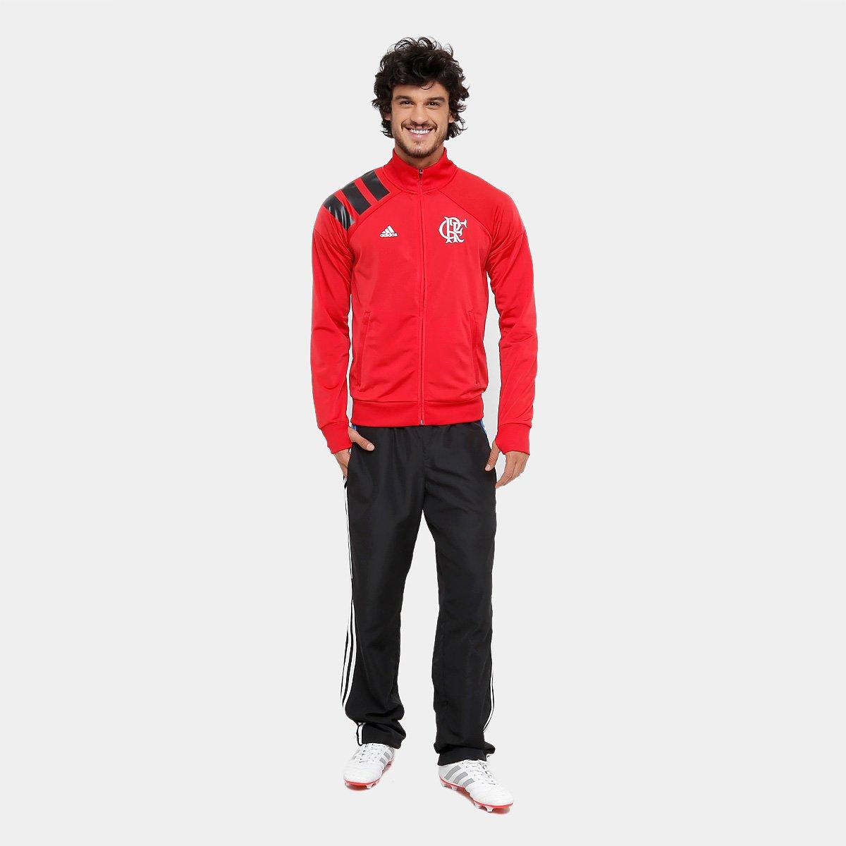 Jaqueta Flamengo Adidas Tango Classic Masculina - Vermelho e Preto ... 36c825682c25d