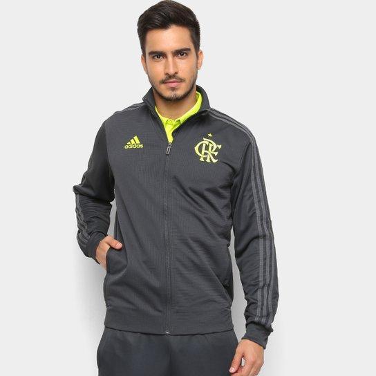 Jaqueta Flamengo Adidas Treino Masculina - Chumbo