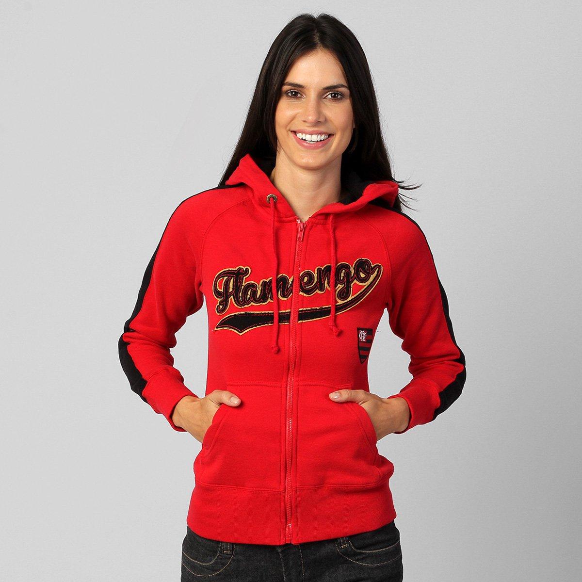 f93a5e9e38 Jaqueta Flamengo Katy c  Capuz - Compre Agora