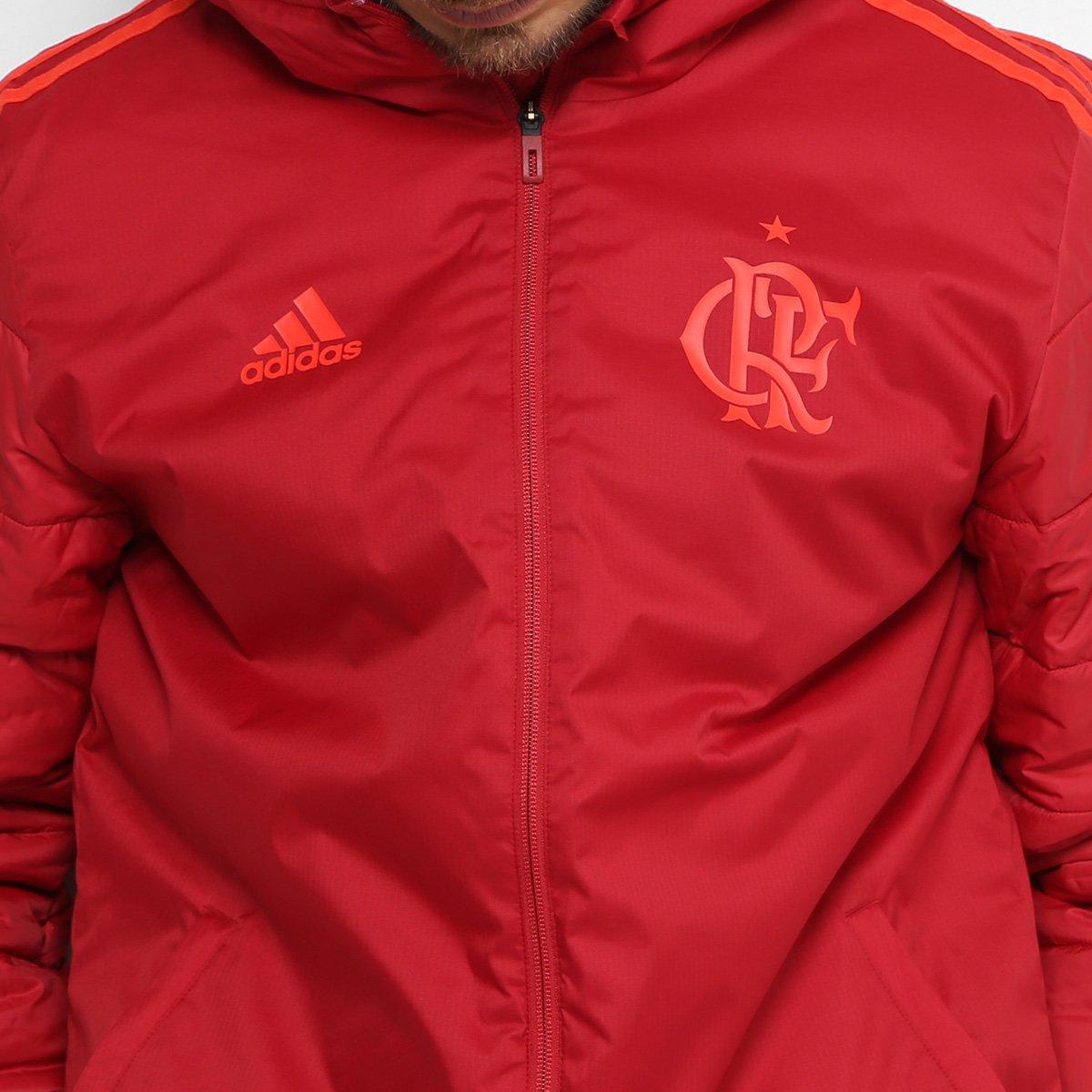 340bf4da48 Jaqueta Flamengo Pesada C  Capuz Adidas Masculina - Vermelho ...