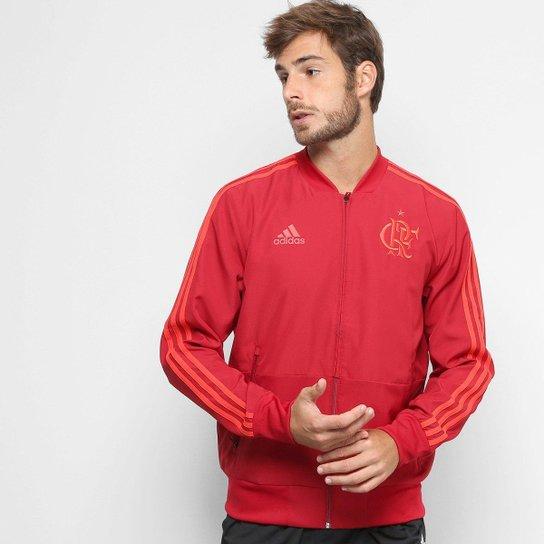 Jaqueta Flamengo Viagem Adidas Masculina - Vermelho