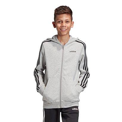 Jaqueta Infantil Adidas Capuz Yb E 3S Fz Hd Masculina
