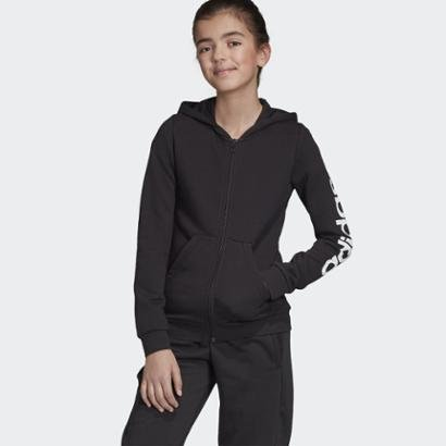 Jaqueta Infantil Com Capuz Yg E Lin Fz Hd Adidas