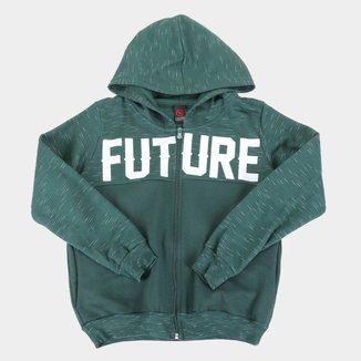 Jaqueta Infantil Costão Com Capuz e Recortes Masculina
