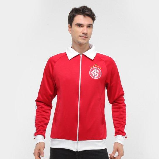 Jaqueta Internacional Retrô Mania Faixas Masculina - Vermelho