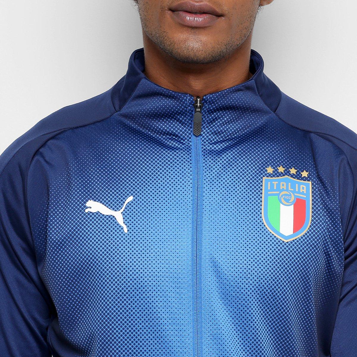 Jaqueta Itália Puma Stadium Masculina - Marinho e Azul - Compre ... d19c71ecc0d77
