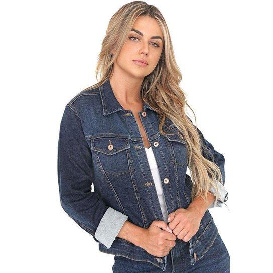 Jaqueta Jeans Bloom Leny Feminina - Azul