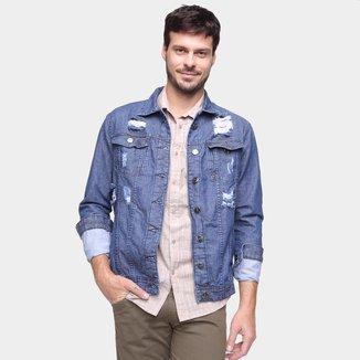Jaqueta Jeans Ecxo Básica Masculina