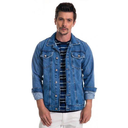 Jaqueta Jeans Express Slow Masculina - Azul