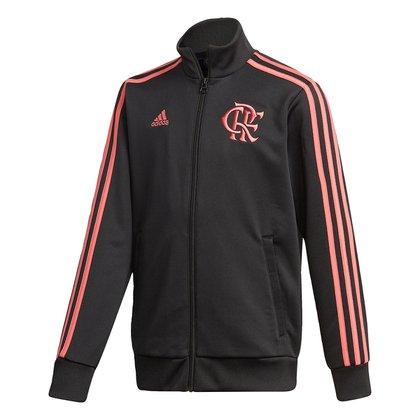 Jaqueta Juvenil Flamengo Adidas 3-Stripes Track Top