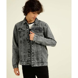 Jaqueta Juvenil Jeans Botões MR Tam 10 A 16 - 10046728159