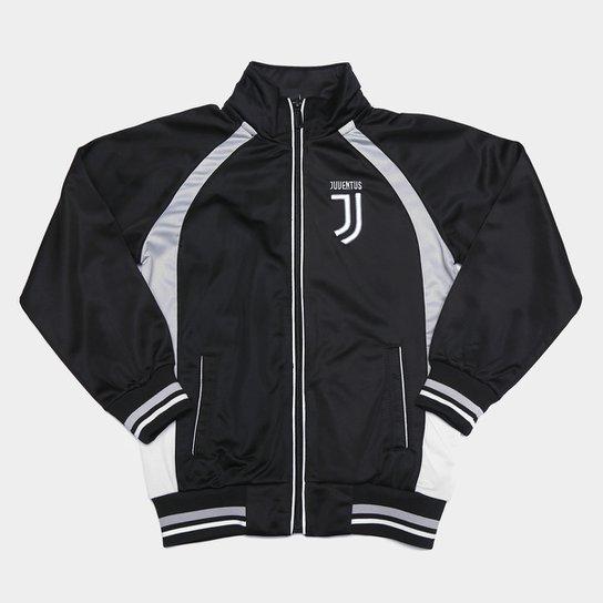Jaqueta Juvenil Juventus Trilobal - Preto+Cinza