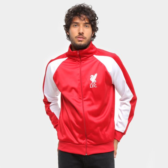 Jaqueta Liverpool Trilobal Recortes Masculina - Vermelho+Branco