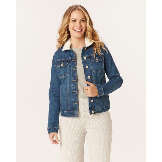 Jaqueta Malwee Slim Jeans Feminina - Azul