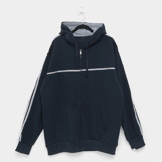 Jaqueta Moletom Athletic Jacket Listras Plus Size Masculina