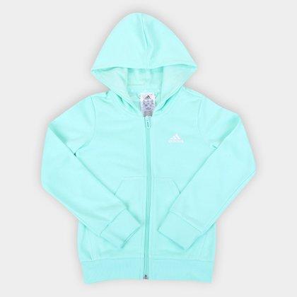 Jaqueta Moletom Infantil Adidas Essentials Linear Com Capuz Feminina