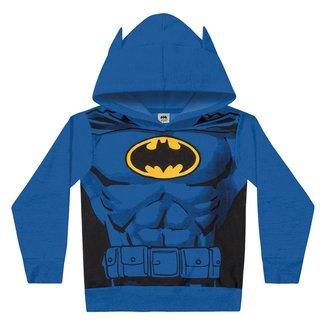 Jaqueta Moletom Infantil Fakini Batman com Capuz Masculina