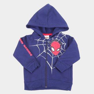 Jaqueta Moletom Infantil Marvel Spider-Man Capuz Masculina