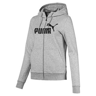 Jaqueta Moletom Puma Essentials Logo Hooded Feminina