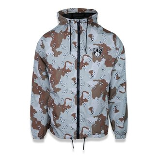 Jaqueta New Era Corta Vento (Windbreaker) Desert Camo Brooklyn Nets NBA