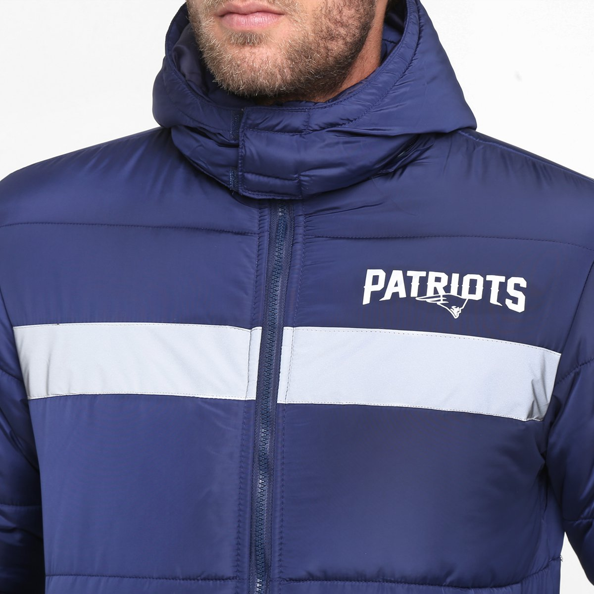 Jaqueta New Era NFL New England Patriots C  Capuz Removível - Compre ... d1a774038bc69