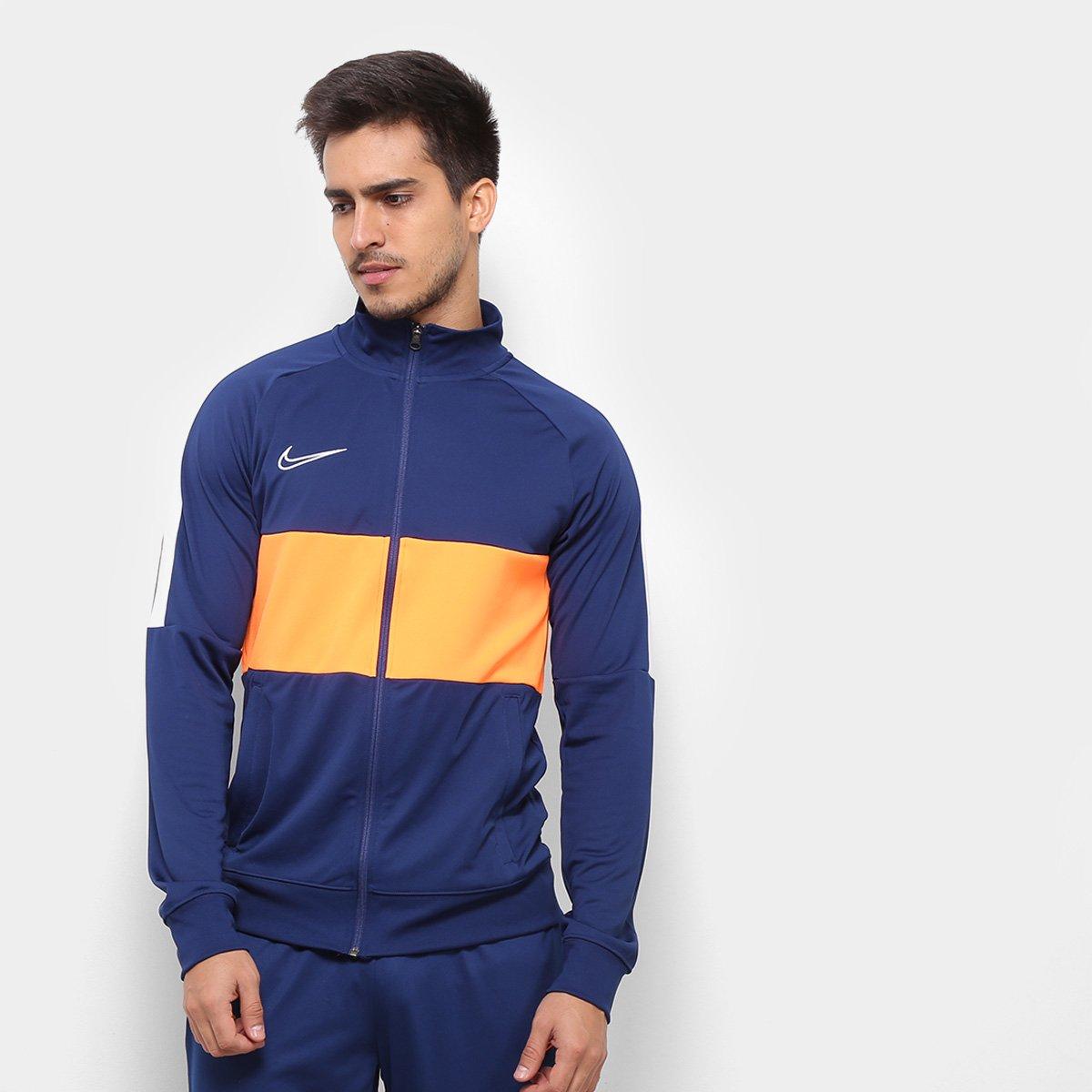 eebbab90618 Jaqueta Nike Academy Dry Fit TRK Masculina - Azul e Branco - Compre Agora