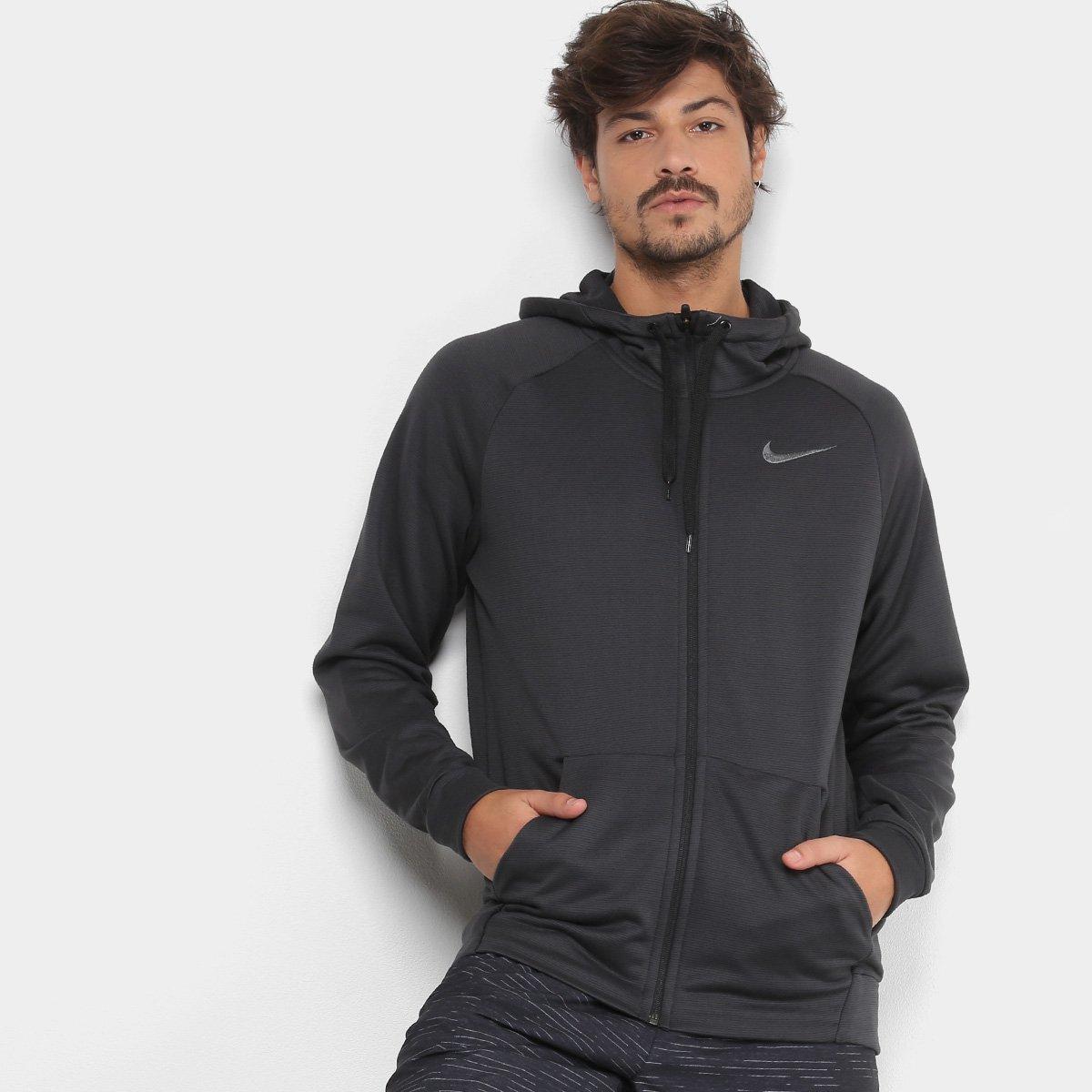 6cb5d71da62 Jaqueta Nike Dry Hoodie Fz Fleece Masculina - Preto e Cinza - Compre Agora