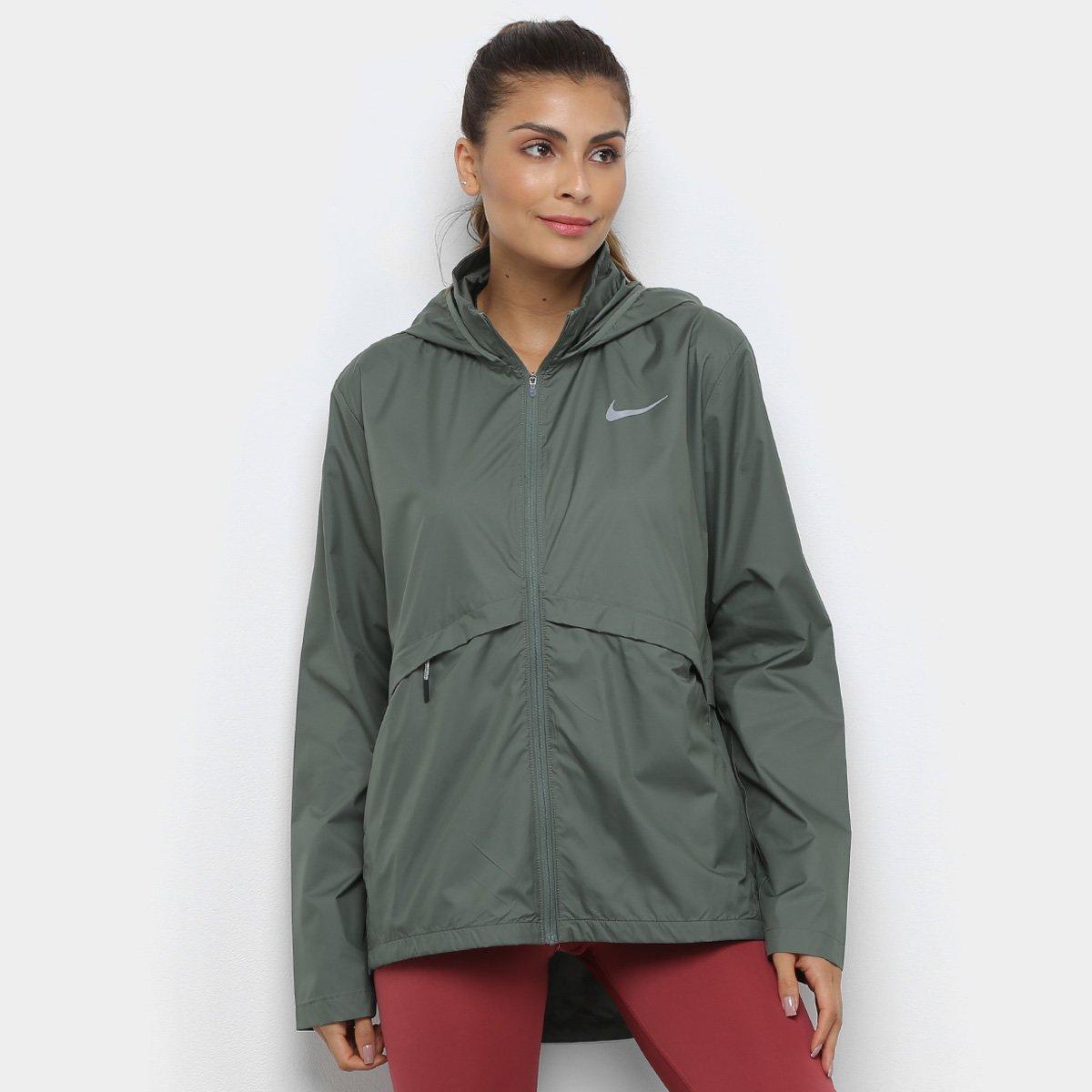 Jaqueta Nike Essential Hd Com Capuz Feminina Verde Claro