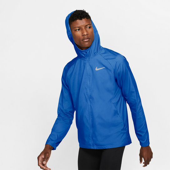 Jaqueta Nike Essential Masculina - Azul+Prata