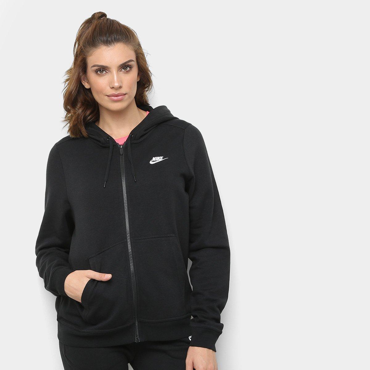 Jaqueta Nike Hoodie Feminina Preto E Branco