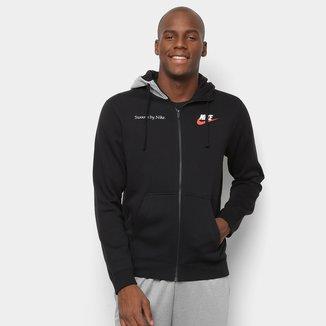 Jaqueta Nike Sportwear Just do It FLC Com Capuz Masculina