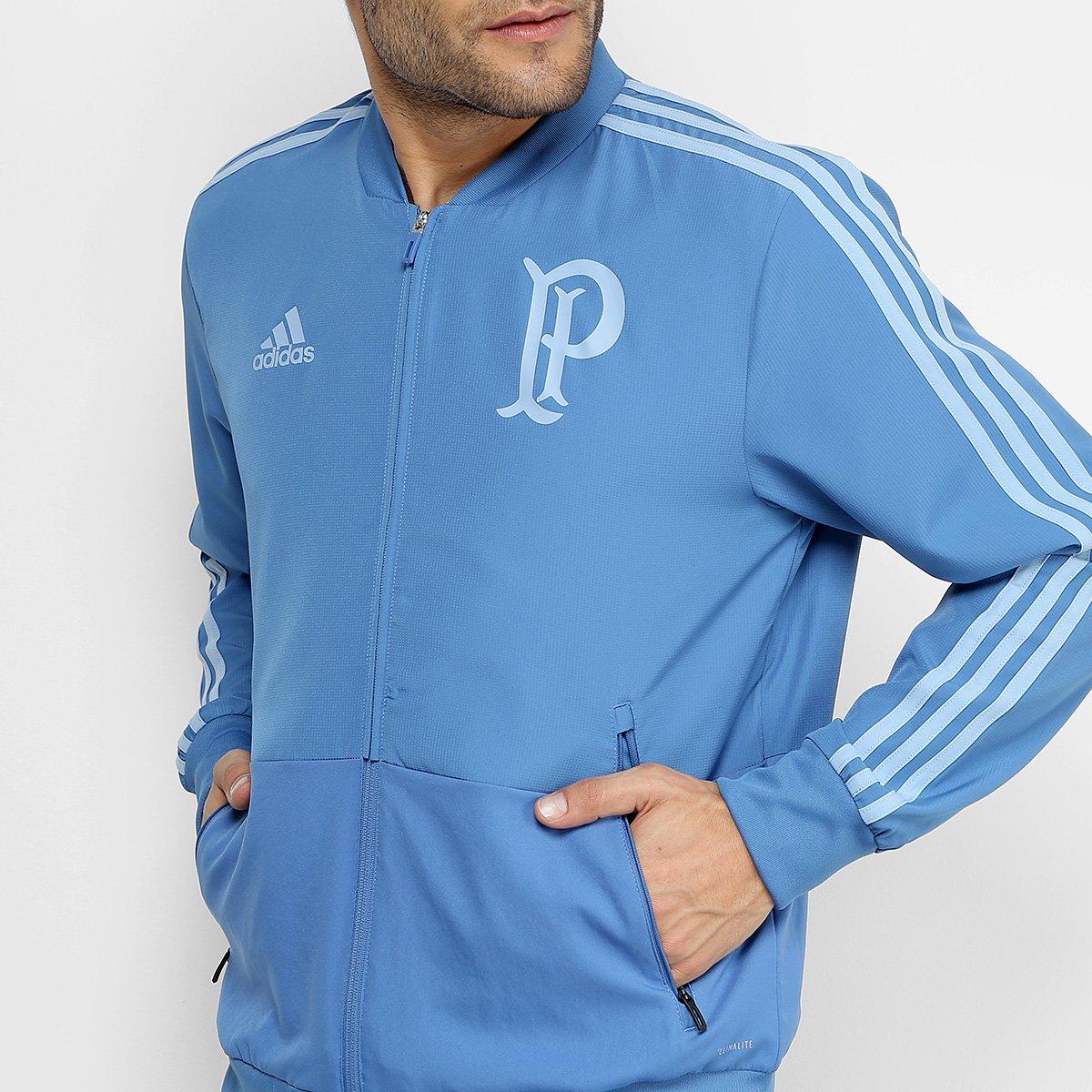 Jaqueta Palmeiras Adidas Viagem Masculina - Azul - Compre Agora ... 68f8179d1949d