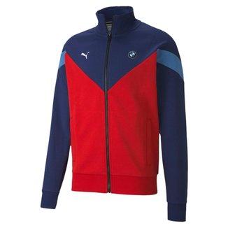 Jaqueta Puma BMW MMS Sweat Masculino - Azul e Vermelho