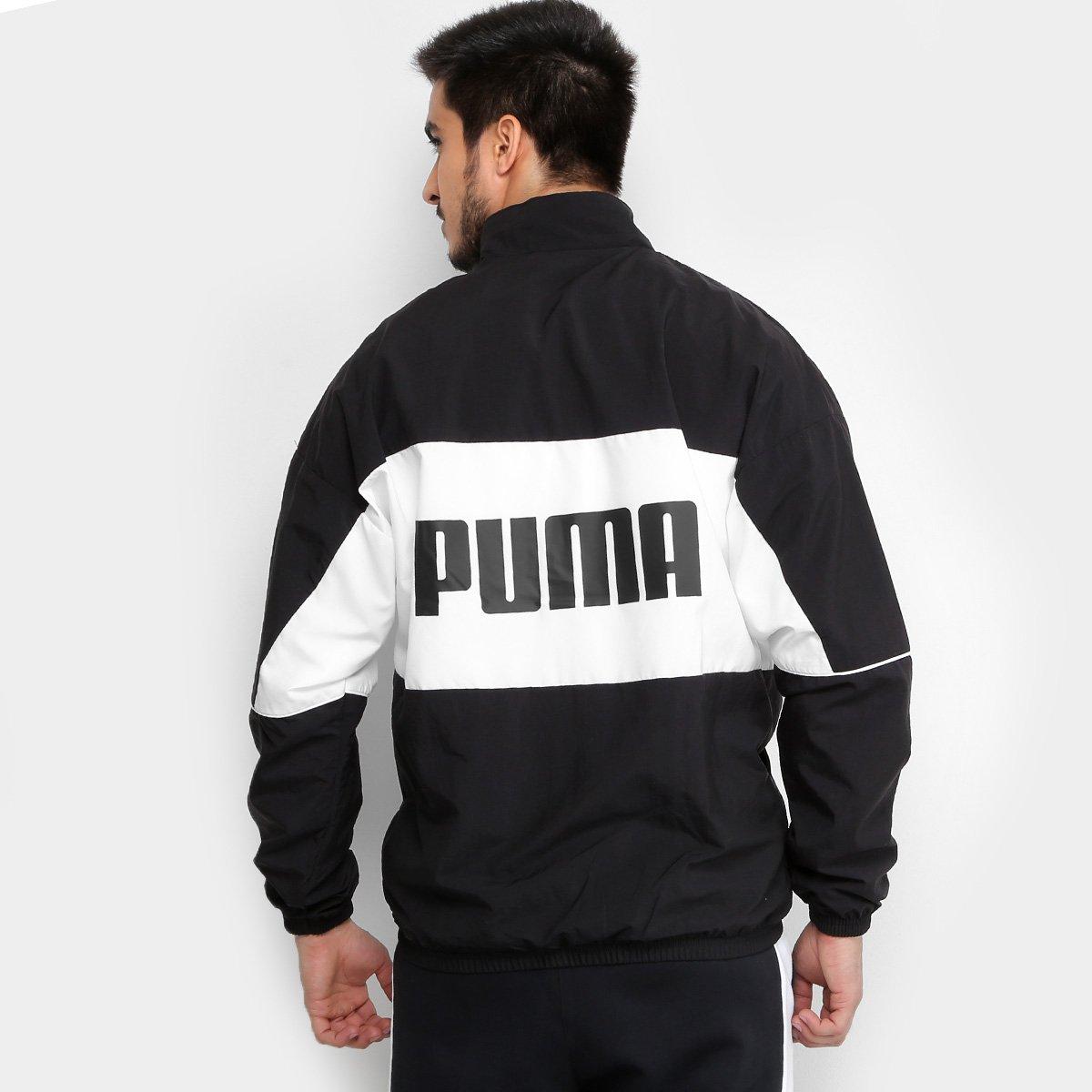 Jaqueta Puma Retro Woven Track Masculina - Preto - Compre Agora ... b37e2e5ddf73d