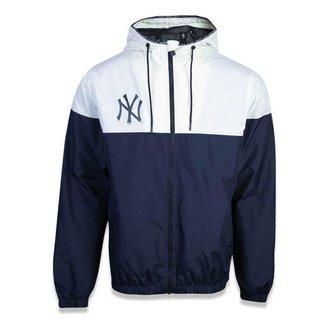 Jaqueta Quebra vento New York Yankees Alkaline Duo Cinza/Azul - New Era