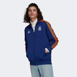 Jaqueta Real Madrid Adidas 3-Stripes Track Top Masculina