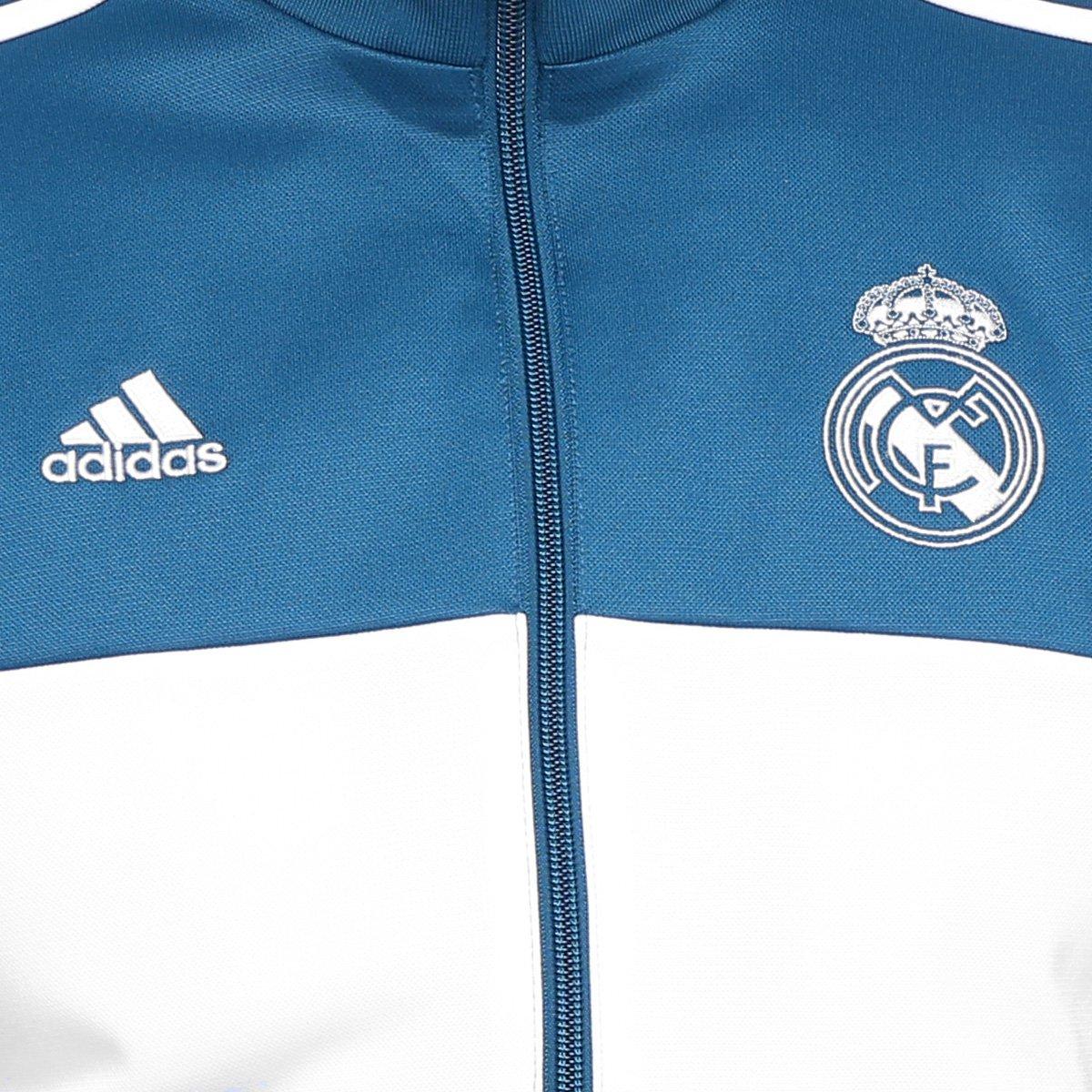Jaqueta Real Madrid Adidas 3S Masculina - Compre Agora  e02b46670ac74