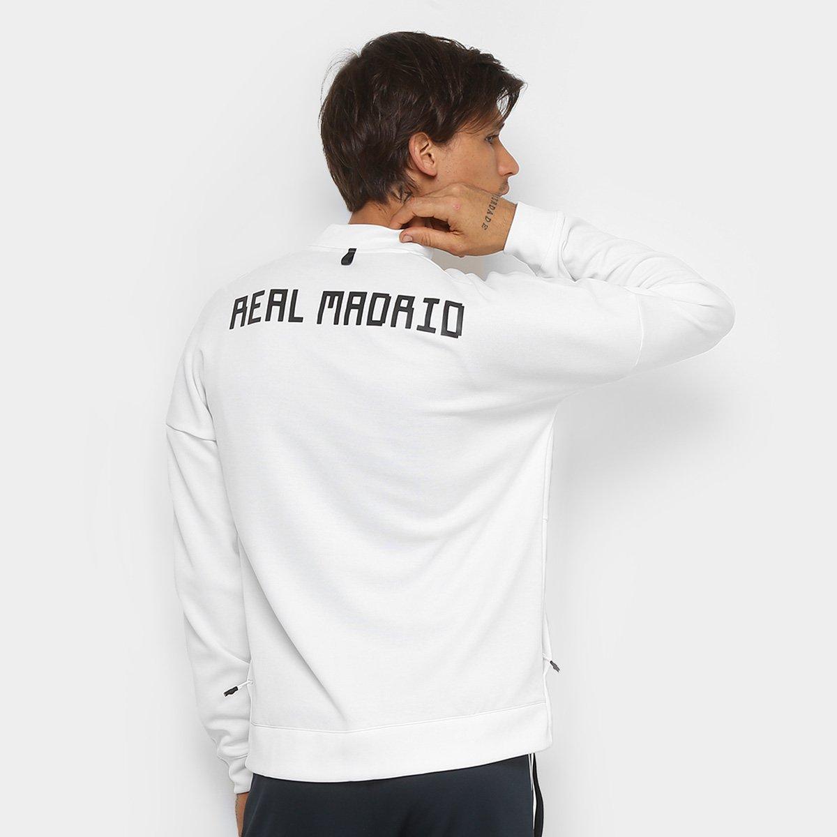 Jaqueta Real Madrid Adidas ZNE Masculina - Branco - Compre Agora ... 4a74e9d79c57a