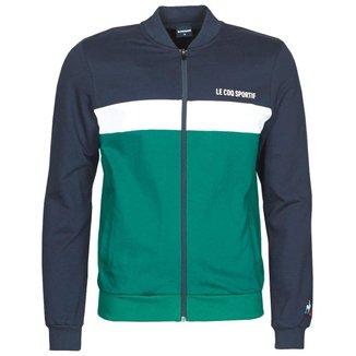 Jaqueta Saison 2 Fz Sweat N.1 Azul e Verde - Le Coq Sportif