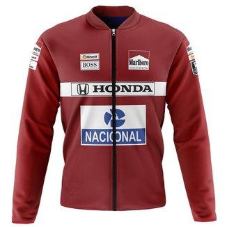 Jaqueta Térmica Ciclismo Mountain Bike Honda vermelha pelúciada super quente