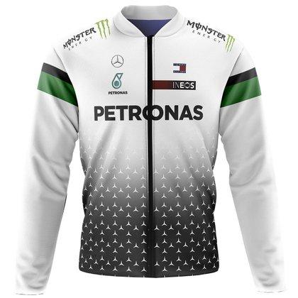 Jaqueta Térmica Ciclismo Mountain Bike Petronas Branca pelúciada super quente