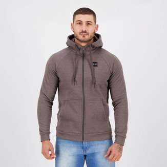 Jaqueta Under Armour Rival Fleece Cinza Mescla