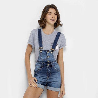 266fde8942 Compre jardineira jeans online netshoes jpg 326x326 Jardineira jeans  feminino